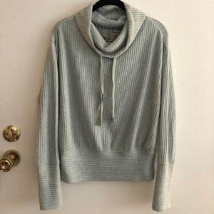 Anthropologie Waffle Knit Pullover